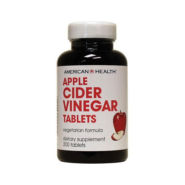 (SALE) American Health Apple Cider Vinegar 200 เม็ด แอปเปิ้ลไซเดอร์ ช่วยควบคุมน้ำหนัก เผาผลาญไขมัน