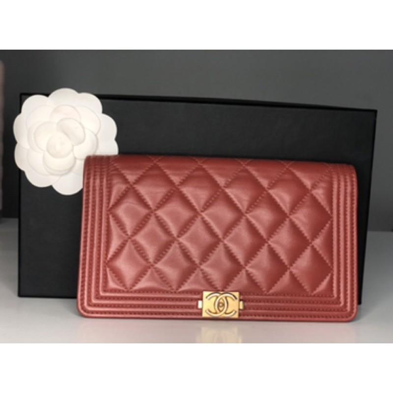 Used chanel boy wallet ออกช็อปไทย!