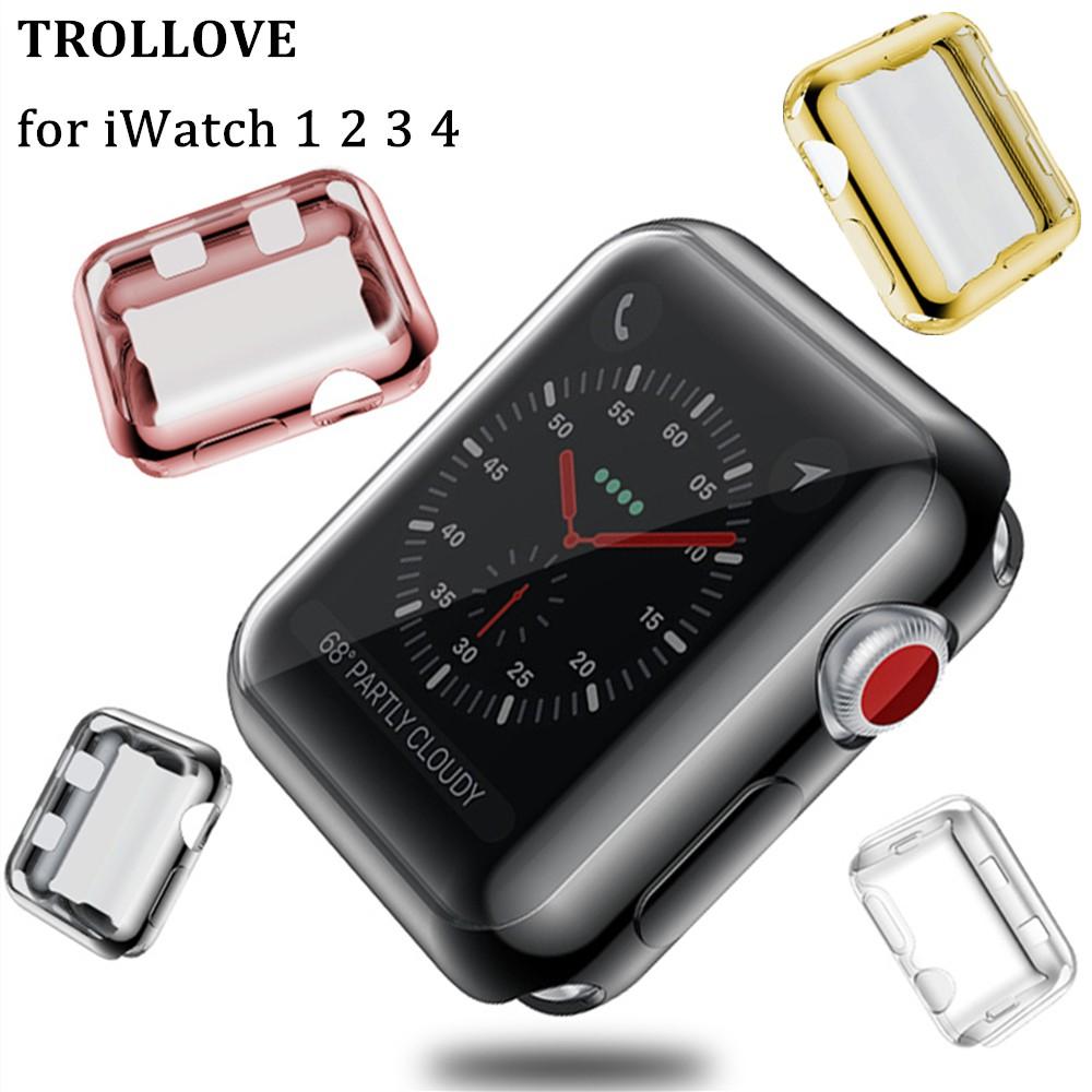 เคสนาฬิกาข้อมือ Tpu กันรอยสําหรับ Apple Watch Case 6 Se 5 4 3 2 1 42MM 38MM 40MM 44MM 360 Series 5 4 6 Series