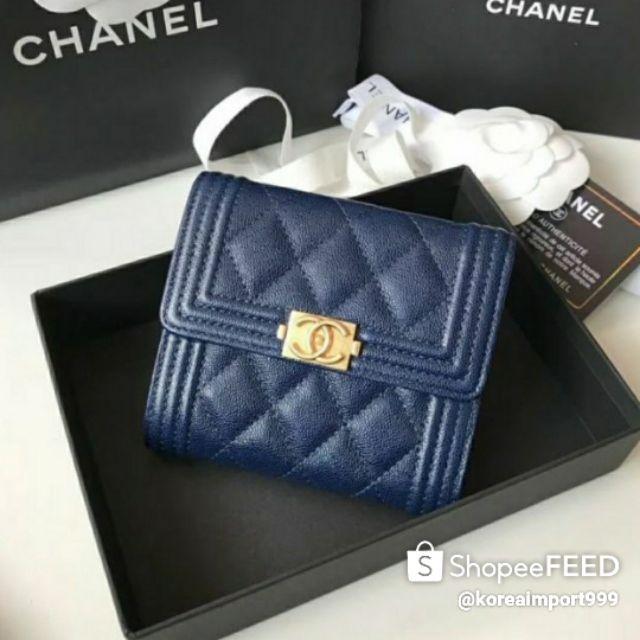 Chanel Boy Wallet Caviar Leather