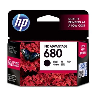 หมึกพิมพ์แท้ HP 680 Black Original Ink Advantage Cartridge (F6V27AA)