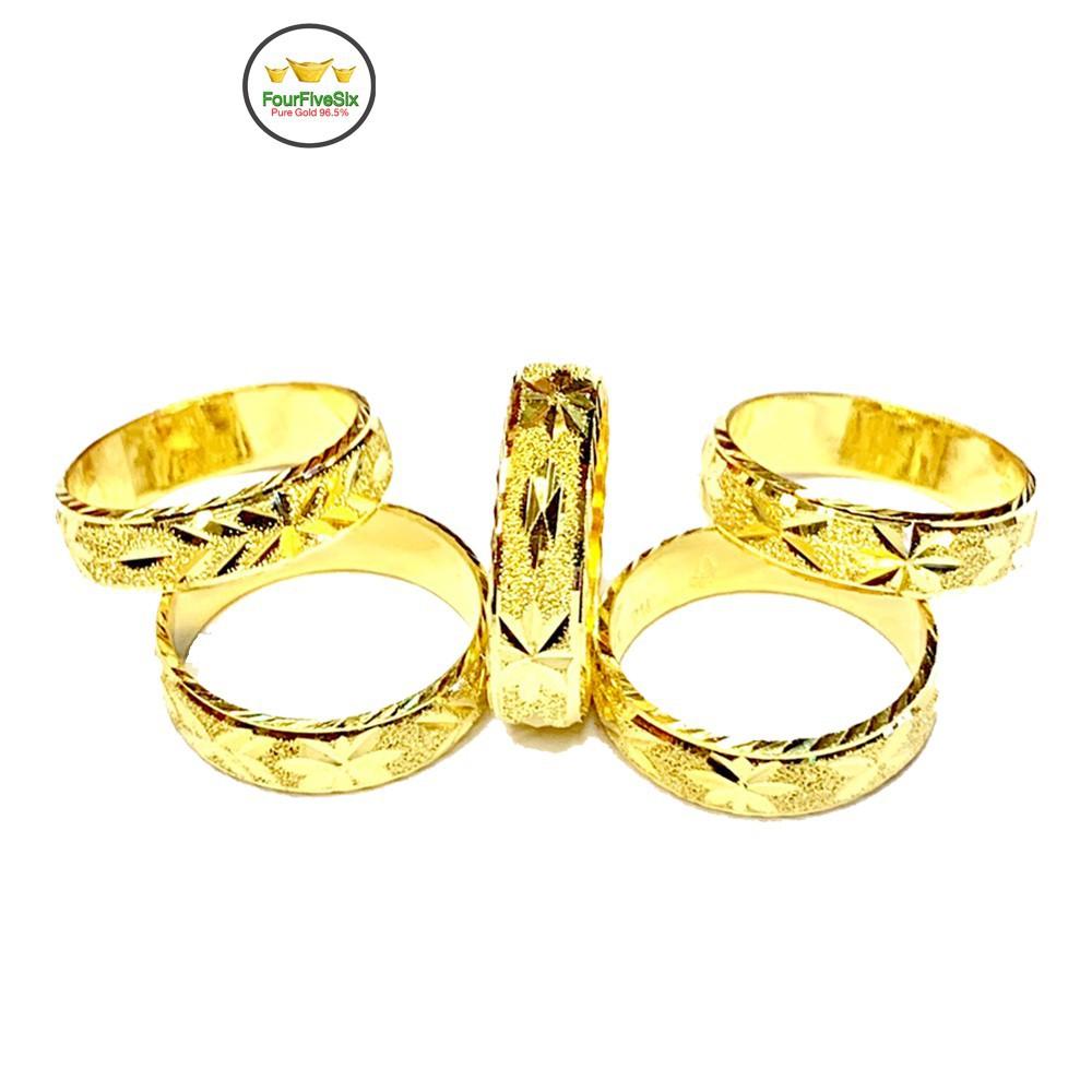 ราคาพิเศษ☒┅✺FFS แหวนทองครึ่งสลึง รุ้งตะวัน ลีลา หนัก 1.9 กรัม ทองคำแท้96.5%