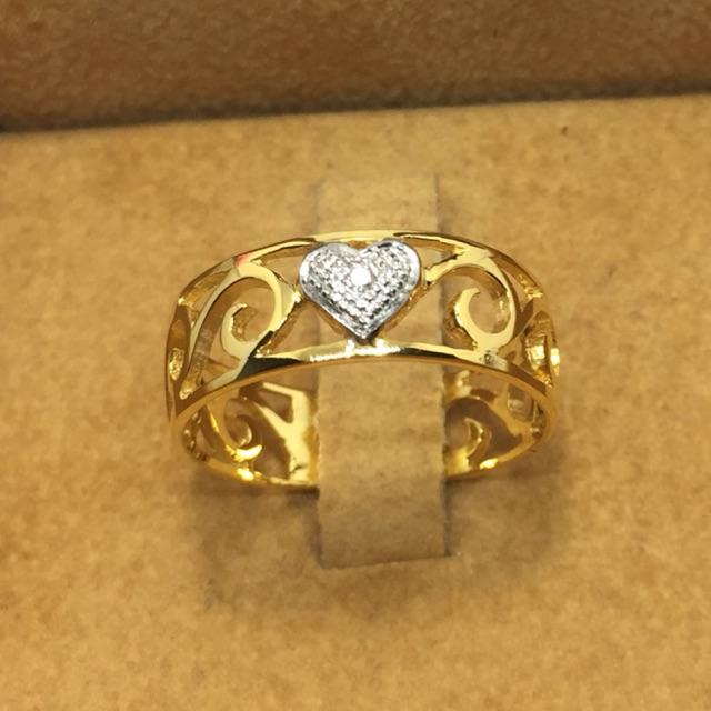 แหวนทองคำแท้เพชรแท้สวยๆราคาโรงาน