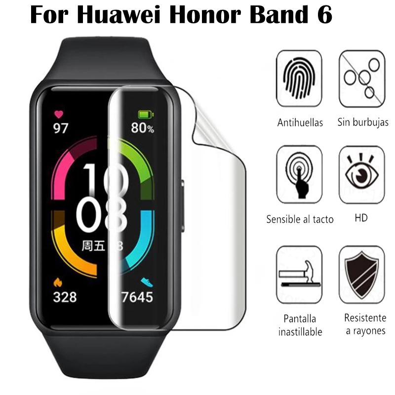 2Pcs Huawei Honor Band 6  ฟิล์มกระจก ฟิล์มใส ฟิล์ม HD Huawei Honor Band 6 ป้องกันหน้าจอ