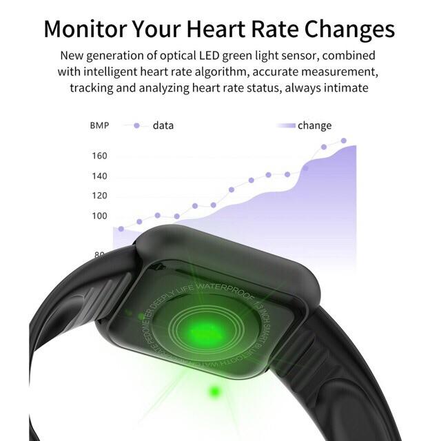[เก็บโค้ดหน้าร้าน ลด40.-] D20 นาฬิกาสมาร์ทWaterproof Smart Watchสัมผัสได้เต็มจอ รองรับภาษาไทย วัดชีพจร ความดัน นับก้าว