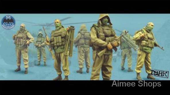 Unpainted Kit 1/35  Soviet soldiers include 4  Resin Figure miniature garage kit QXvz