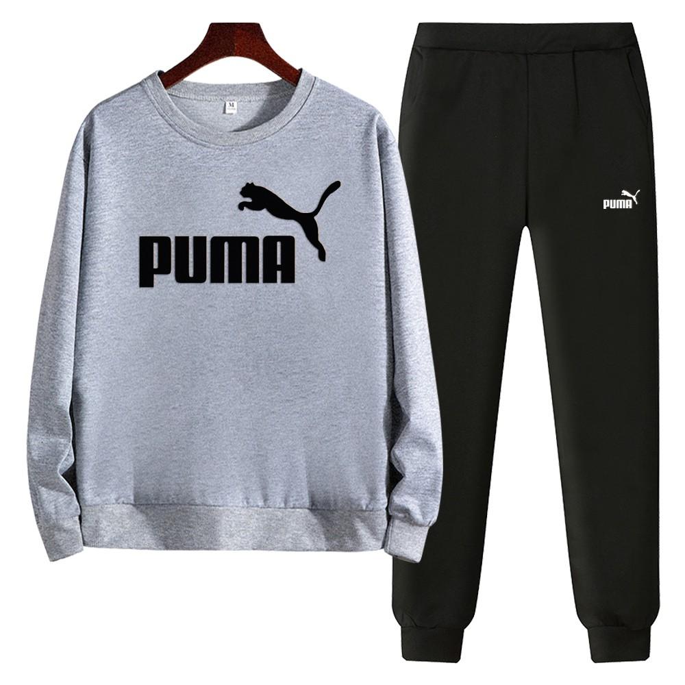 Puma เสื้อกันหนาวคอกลมแขนยาวแบบลําลอง