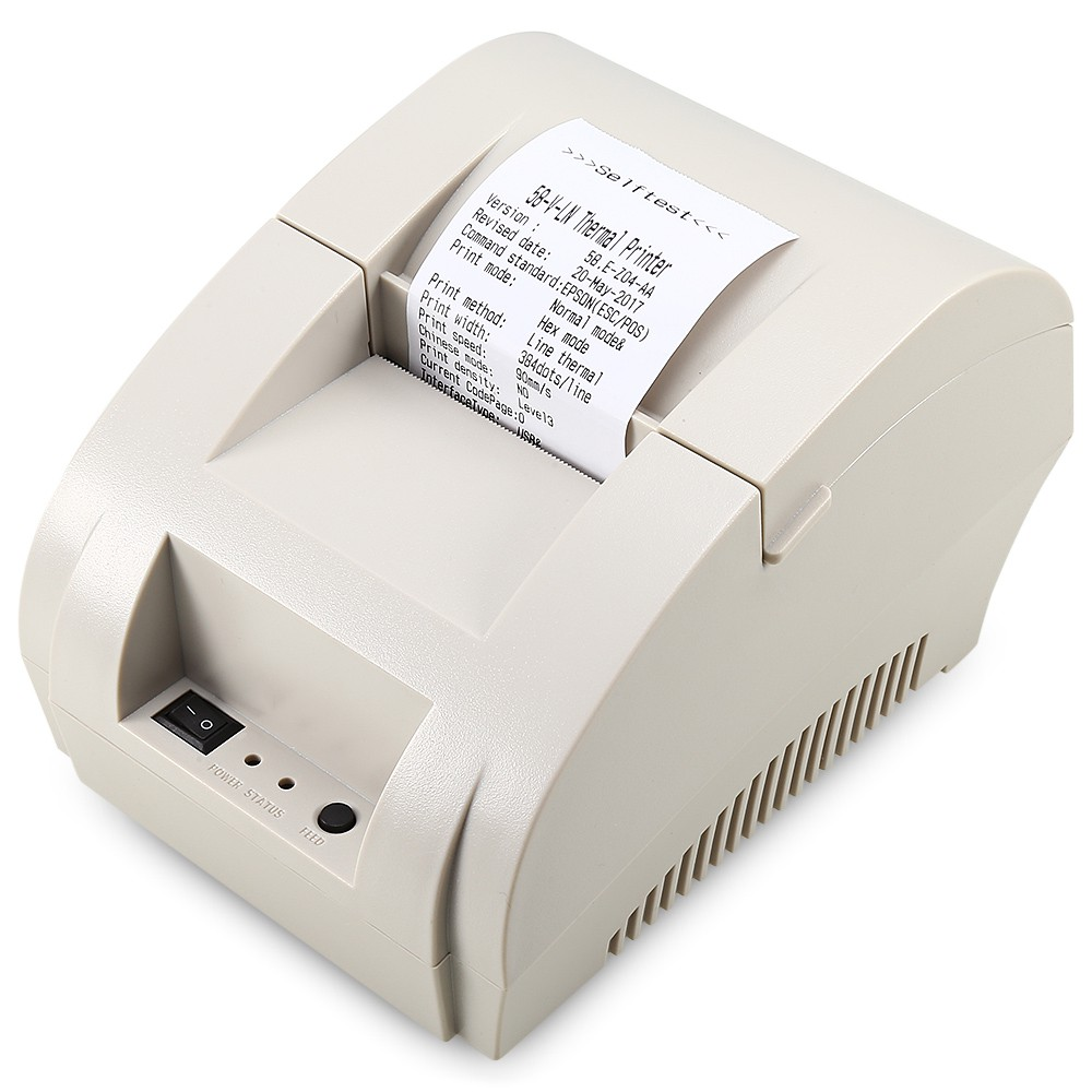 【Ready Stock】 ZJIANG ZJ - 5890K - LN Portable Printer Bluetooth Thermal  Receipt Machine with USB Port for Android iOS