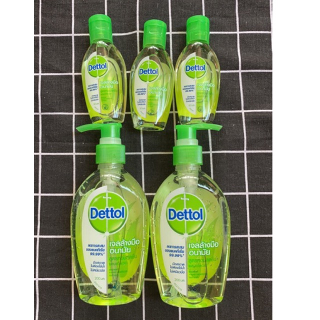 ล็อตใหม่ 200ml 99 บาท ❤️พร้อมส่ง Dettol Alcohol Gel Hand เดทตอล เจลล้างมือ ไม่ใช้น้ำ เจลล้างมืออนามัย พกพา เดทตอล