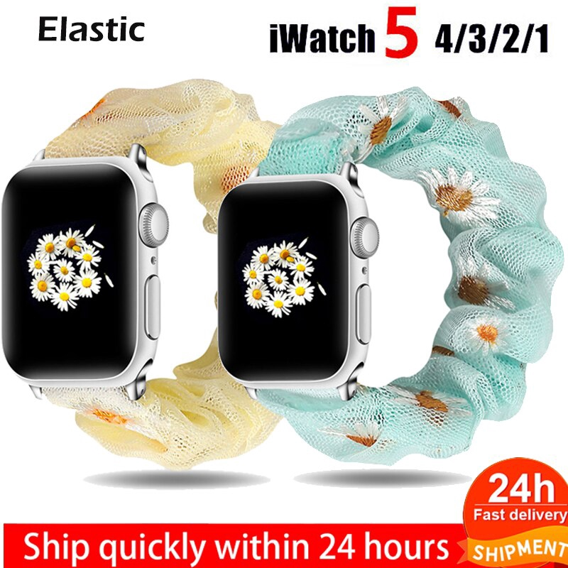 สายนาฬิกายืดหยุ่น สําหรับ Apple Watch Band series 5 4 3 2 1 สําหรับ สายนาฬิกา Iwatch Series jiNV