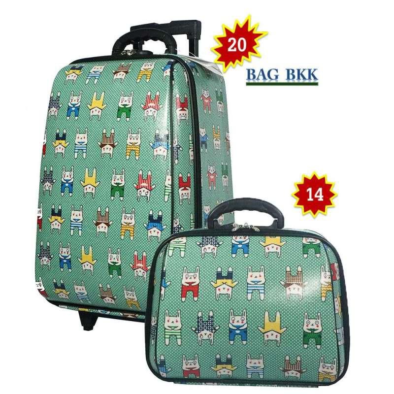 BAG BKK Luggage Wheal กระเป๋าเดินทางล้อลาก ระบบรหัสล๊อค เซ็ทคู่ ขนาด 20 นิ้ว/14 นิ้ว Code F7719-20 Snoopy