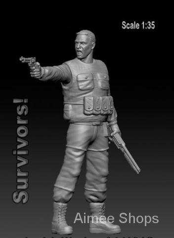 Unpainted Kit 1/35  Survivor with  and Colt (1 figure)   Resin Figure miniature garage kit SFD4