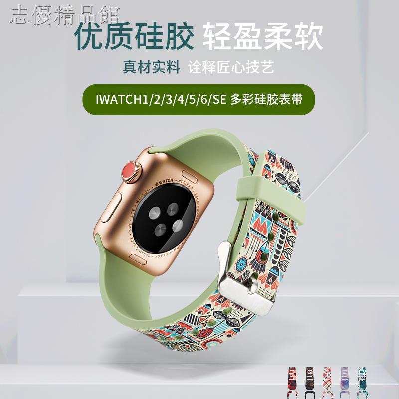 สายนาฬิกาข้อมือลายดอกไม้สําหรับ Applewatch 6se Applewatch 6/5 Generation 3/4/2 Tide