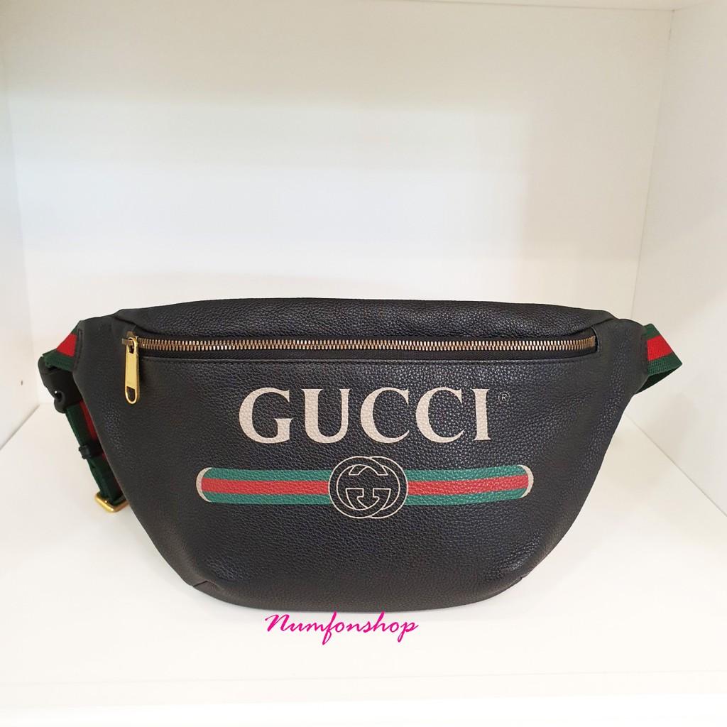 Gucci Belt Bag สีดำมือสองสภาพดีไซส์ใหญ่