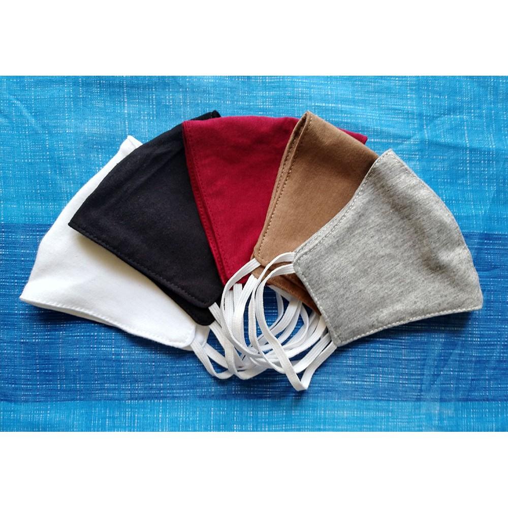 หน้ากากผ้า ผ้าปิดจมูก ผ้าปิดปาก แมสแบบผ้า health mask ขาว เทา ดำ น้ำตาล แดงเลือดหมู เรียบง่าย แฟชั่น สวยๆ เท่ๆ ซักได้