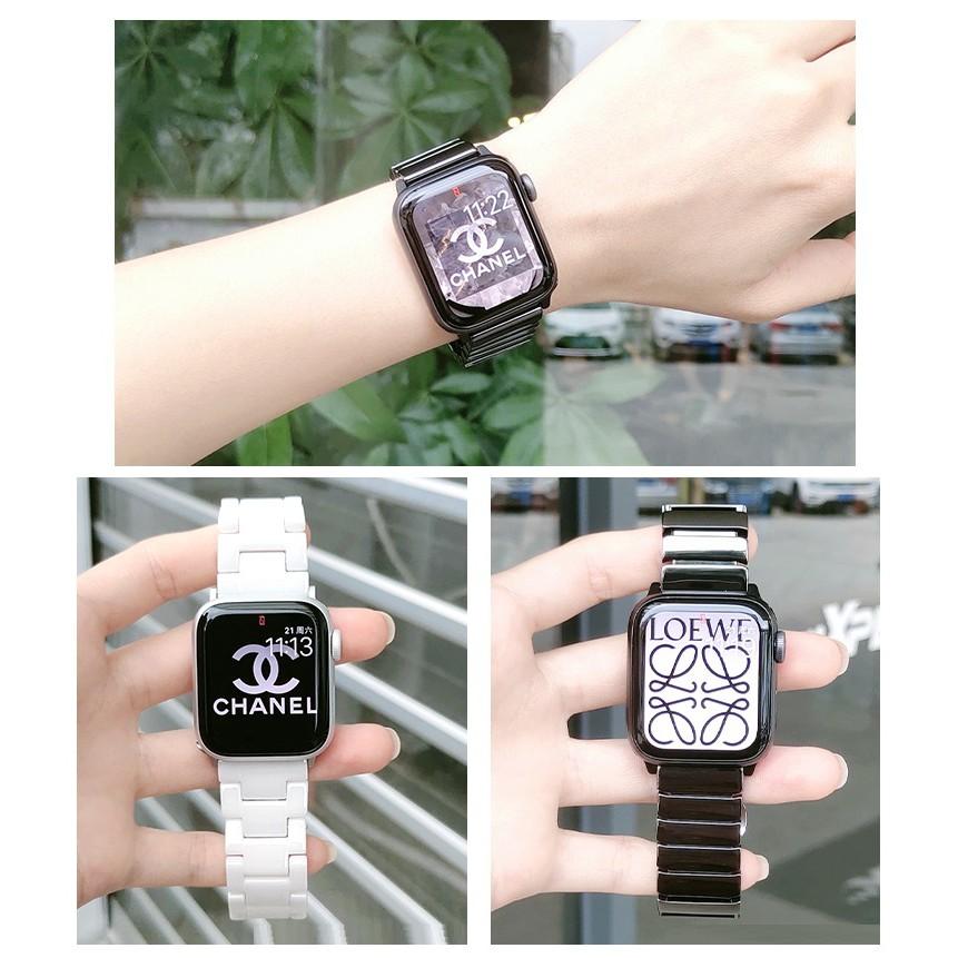 Luxury Apple Watch Strap Applewatch Ceramic Stainless steel i watch strap Watch Watchband for Apple Watch Series 1/2/3/4