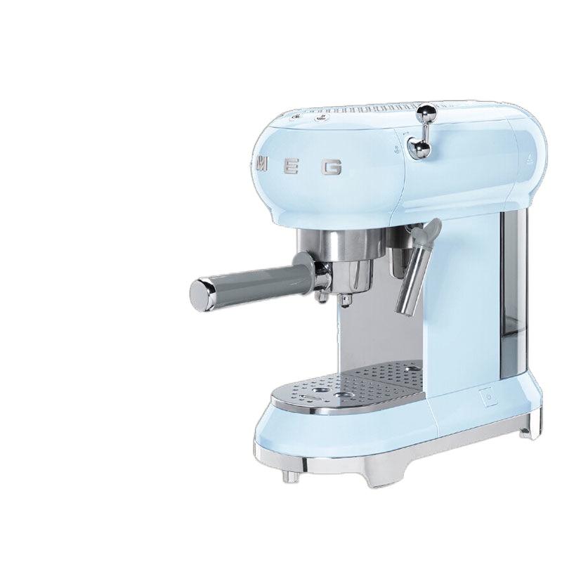 ♗SMAG SMEG ECF01 ครัวเรือนปั๊มมือแบบใช้แรงดันประเภทอิตาเลี่ยนย้อนยุคกึ่งอัตโนมัติสดเครื่องชงกาแฟสดเครื่องทำฟองนม
