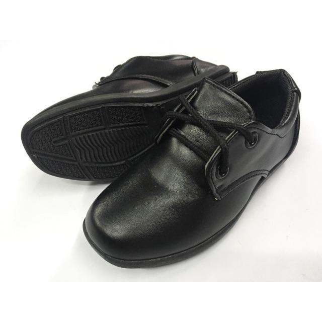 รองเท้าคัชชูเด็กผู้ชาย ผูกเชือก สีดำ ไซส์ 25-36