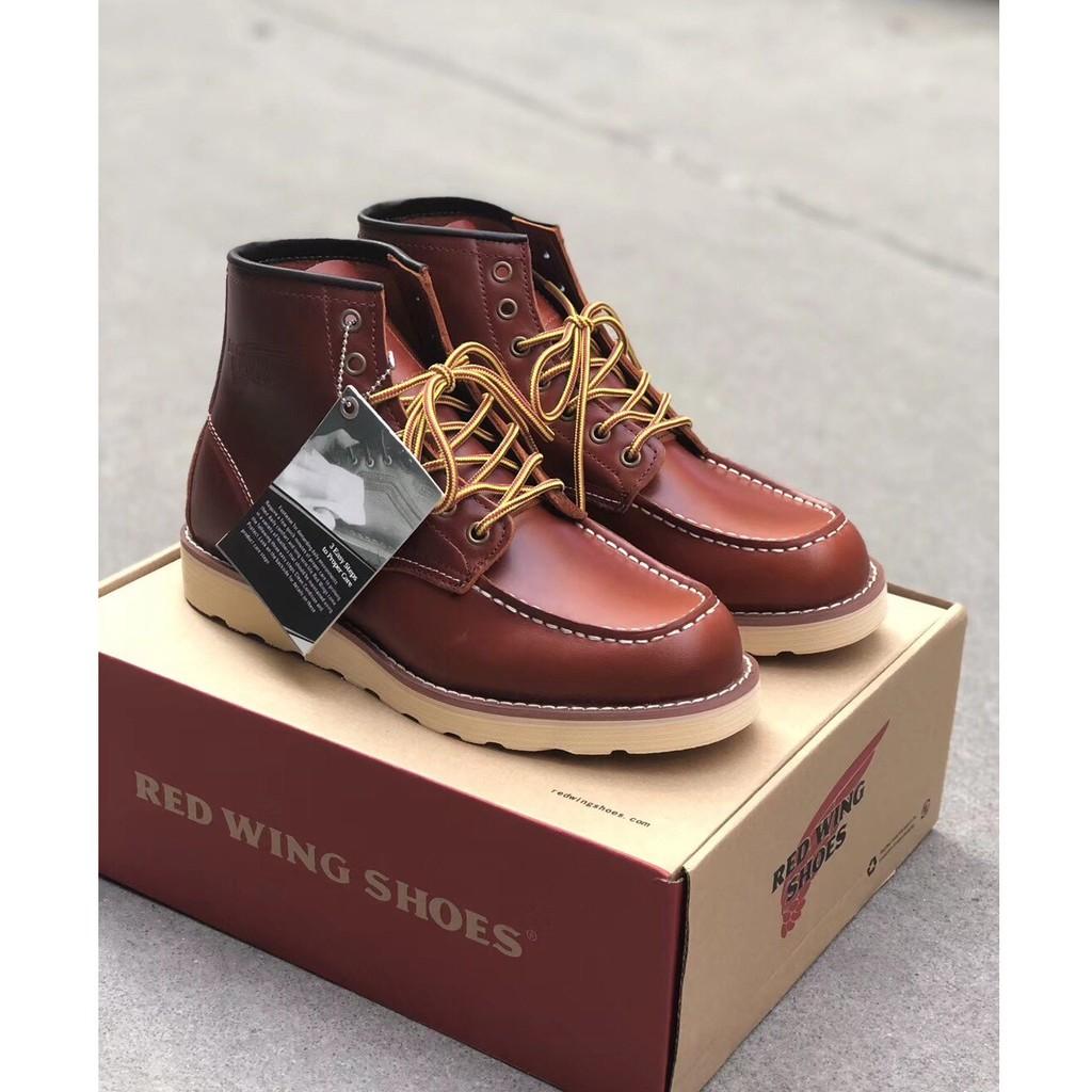 💖แท้ 💯% RED WING 875ชุด แบรนด์ที่มีชื่อเสียง รองเท้าบูทผู้ชาย รองเท้าบูทมาร์ติน