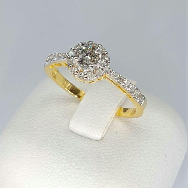 แหวนเพชรแท้ทองคำแท้ราคาส่งโรงงาน