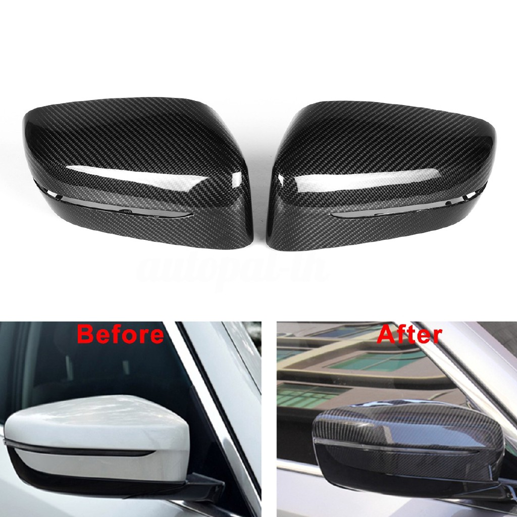 Real 100/% Carbon Fiber Mirror Cover M Look for BMW 5 Series G30 G31 G38 7 Series