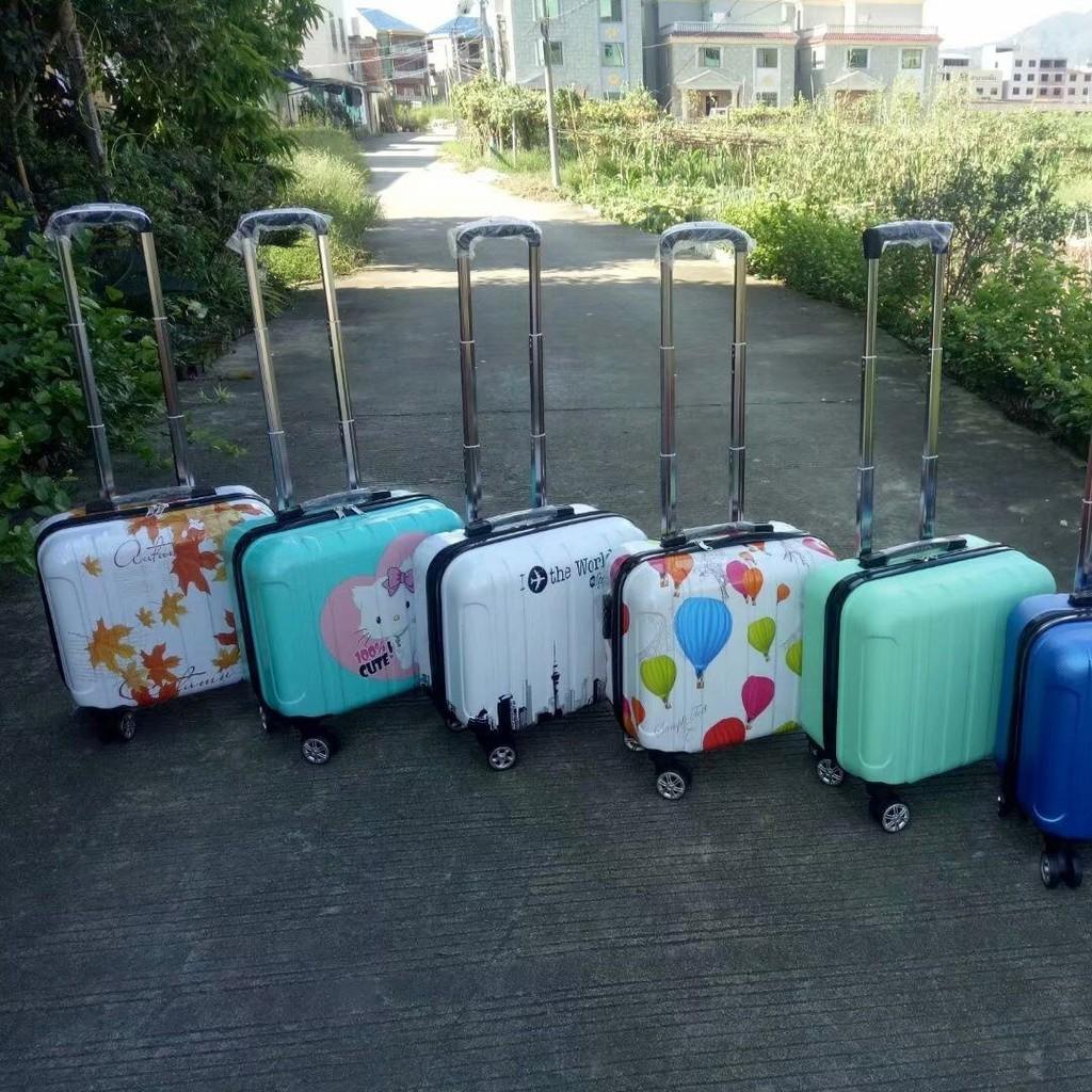 ✜✵กระเป๋าเดินทางการ์ตูนขนาดเล็ก 14 นิ้วฤดูใบไม้ผลิและฤดูใบไม้ร่วงกระเป๋าเดินทางสำหรับผู้ชายและผู้หญิงกระเป๋าเดินทางขนาด