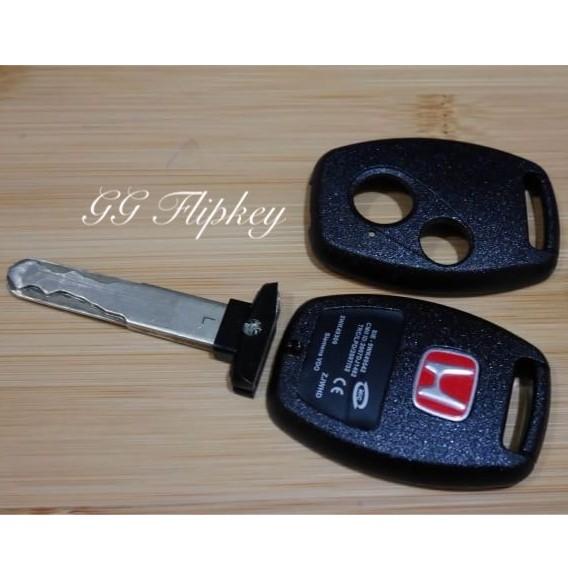 ?ส่งฟรี? กรอบกุญแจ Honda Jazz City Civic Fd Brio Mobilio Crv *ใส่ดอกเดิมจากศูนย์ได้**.