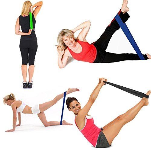 ยางยืดออกกำลังกาย ️ลดเเรงเเซงโค้ง️Set แบบวงกลม 4 เส้น Loop Rผ้ายืดออกกำลังกาย ยางยืดแรงต้าน  ยางยืดออกกำลังกายแรงต้านสูง
