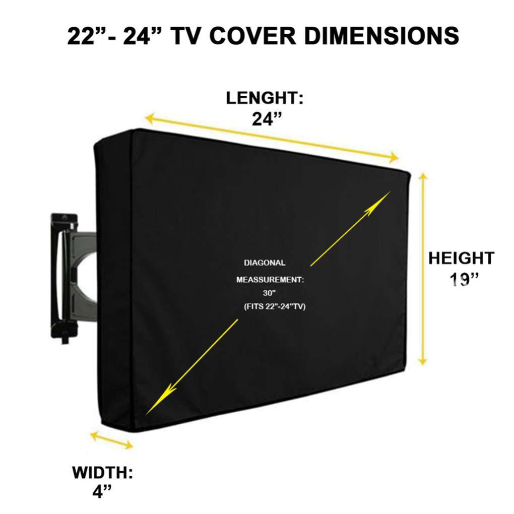 "43/"" TV LCD Outdoor Weatherproof Waterproof Flat Screen Cover Protector for 38/"""