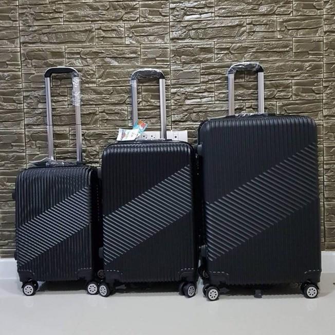 กระเป๋าเดินทางล้อลาก  วัสดุ  ABS+PC  แข็งแรง ทนต่อแรงกระแทก สีดำ 24 นิ้ว