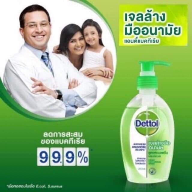 💢พร้อมส่ง💢🖐 เจลล้างมือ Dettol หัวปั๊ม#เจลล้างมือ เดทตอล ขนาด 200 ml. สินค้าพร้อมส่ง
