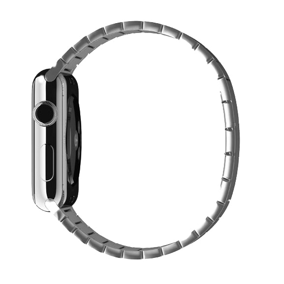2020 Urvoi Link สร้อยข้อมือสแตนเลสสําหรับ Apple Watch Band Series 5 4 3 2 1 44 มม.