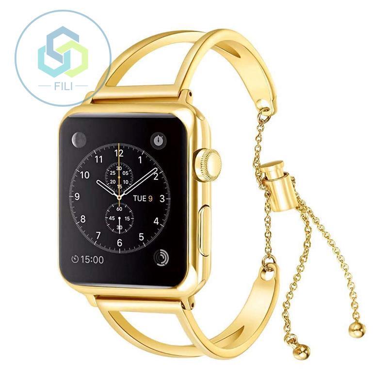 Apple Watchseries1/2/3/4 สายคล้อง AppleWatch โลหะสแตนเลสกลวงหญิงรุ่น WDda