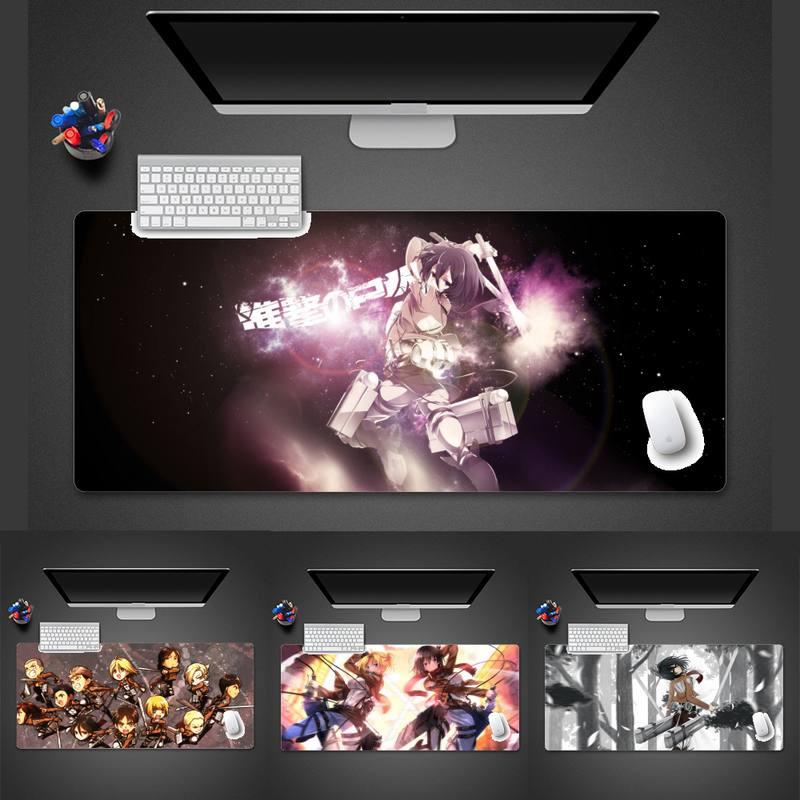 แผ่นรองเมาส์ Attack On Titan Customized laptop Gaming mouse pad Game Office Work Mouse Mat pad Laptop Cushion mouse pad