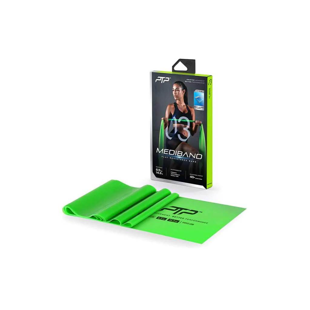PTP Mediband Medium แผ่นยางยืดออกกำลังกาย สีเขียว ไซส์ One Size อุปกรณ์ออกกำลังกาย อุปกรณ์ กีฬา