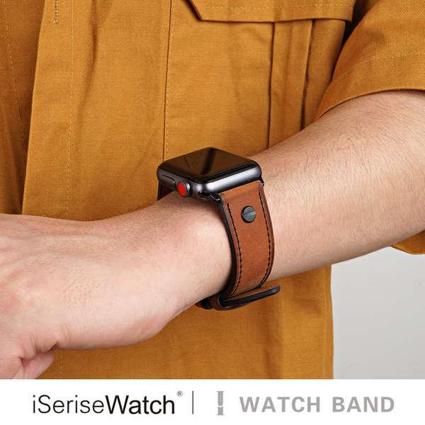 สาย applewatch iserisewatch เหมาะสำหรับสาย applewatch สายนาฬิกา Apple iwatch1 / 2/3/4/5/6 / se รุ่น 38/40/42 / 44mm หนัง