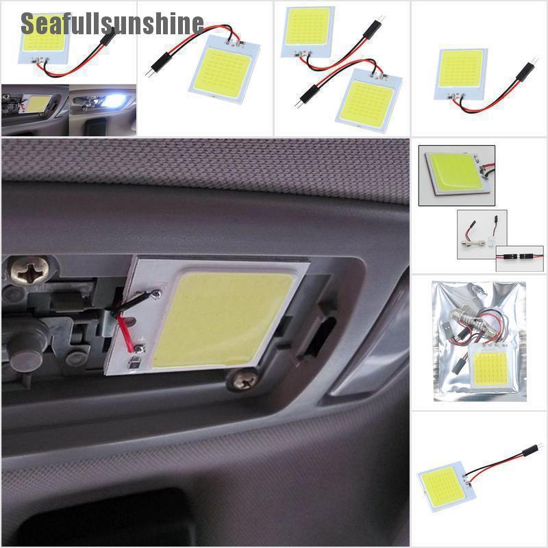 (sfsss) 48 smd cob led t 10 4 w 12 v แผงหลอดไฟภายในรถยนต์สีขาว