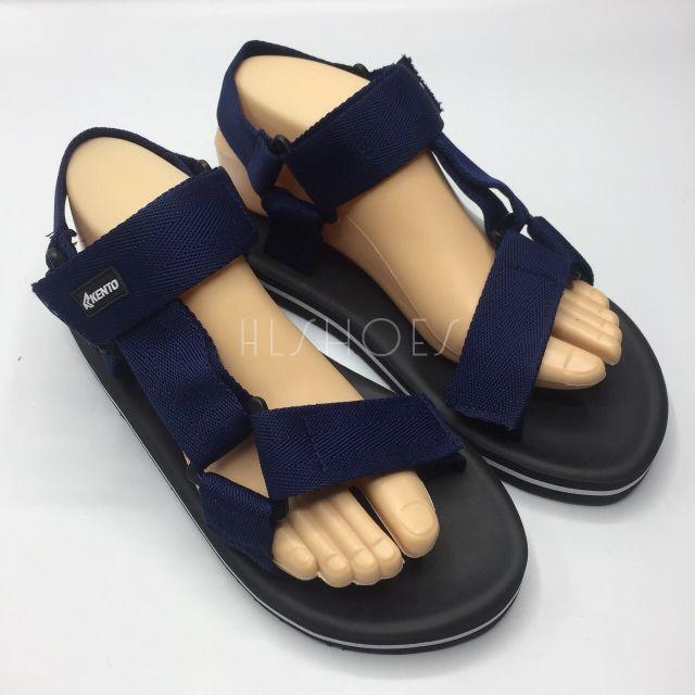 รองเท้าแตะ รองเท้ารัดส้นผู้ชาย รองเท้าชาย รองเท้ารัดส้น รองเท้าคัชชูผู้ชาย Kento🔥ไซส์5-16🔥รองเท้ารัดส้นชาย-หญิง สีดำ/ก