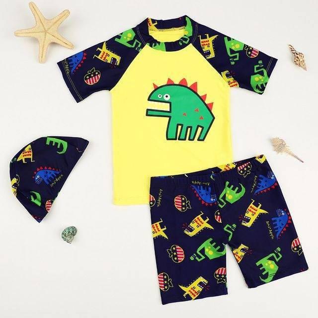 🌻💋📣♀✁[2020 New Year Sale] ชุดว่ายน้ำเด็กผู้ชาย เนื้อผ้านิ่มใส่สบาย ลายไดโนเสาร์ แถมฟรี Kirei Kirei เจลล้างมือคิเรอิ 5