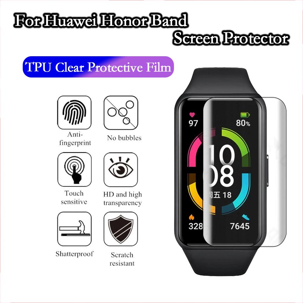 ฟิล์มกันรอยสำหรับ Huawei Honor Band 6 ตัวป้องกันหน้าจอ Soft TPU ใสฟิล์มป้องกันสำหรับ huawei honor band6 Smart Watch