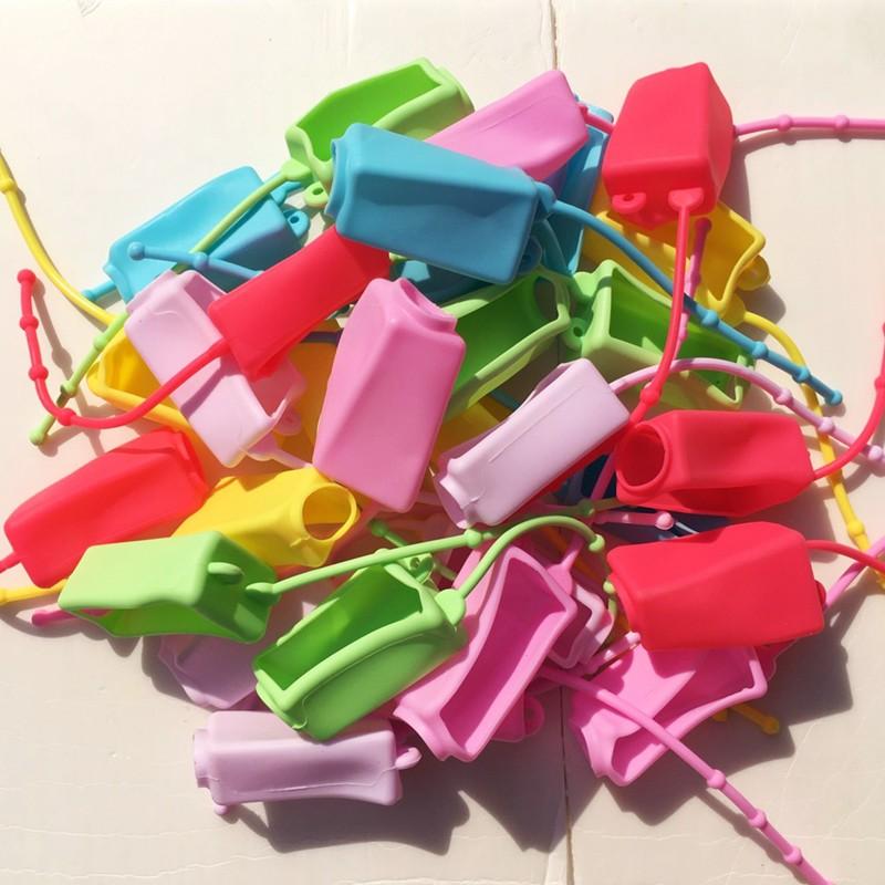 ปลอกซิลิโคนแบบพกพา มีสายห้อยกระเป๋า ขวดเปล่าใส่เจลล้างมือ สำหรับเด็กและผู้ใหญ่ ปริมาณ 30 มล.