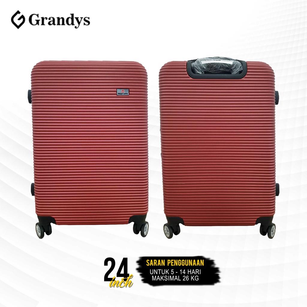 กระเป๋าเดินทาง Abs หมุนได้ 360 องศา 24 นิ้ว