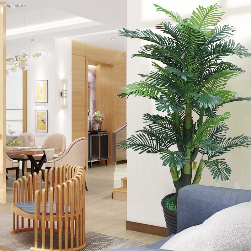 การจำลองพันธุ์ไม้อวบน้ำ✙ต้นไม้เทียม กระถางปลอม Fortune Tree ตกแต่งห้องนั่งเล่น Sanweikui ตกแต่งภายในดอกไม้ประดิษฐ์ดอกไม้