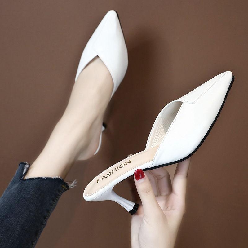 รองเท้าส้นสูง หัวแหลม ส้นเข็ม ใส่สบาย New Fshion รองเท้าคัชชูหัวแหลม  รองเท้าแฟชั่นรองเท้าแตะส้นสูงรองเท้าผู้หญิงรองเท้า