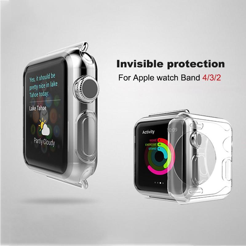 Protector Apple Watch Case 4 3 2 1360 ฝาครอบ Tpu แบบเต็มสำหรับ Iwatch Series 1 38 มม. 42 40 44 Strap Apple Watch 38mm เคสกันรอย Case Apple Watch Strap Apple Watch 44mm