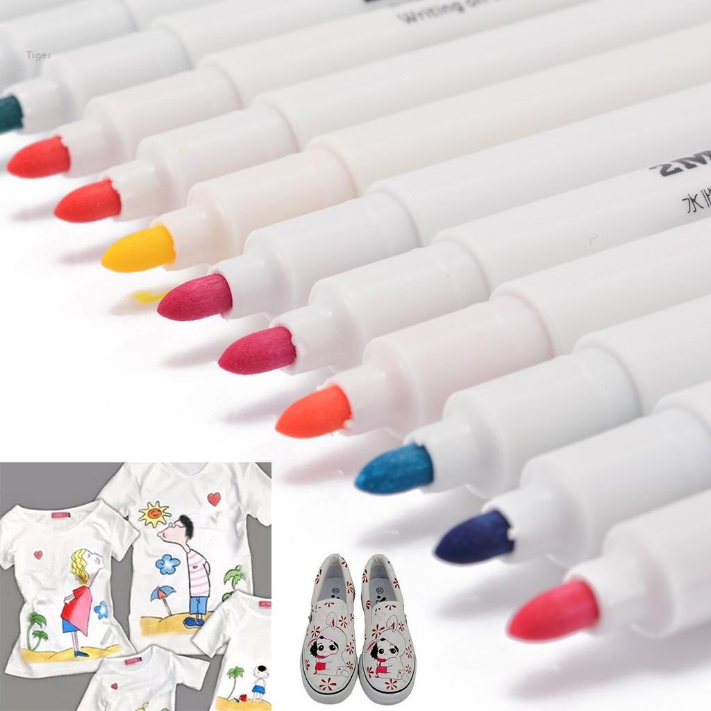 Fabric Marker Pens Permanent Colors For DIY Textile Clothes T-Shirt Shoes New