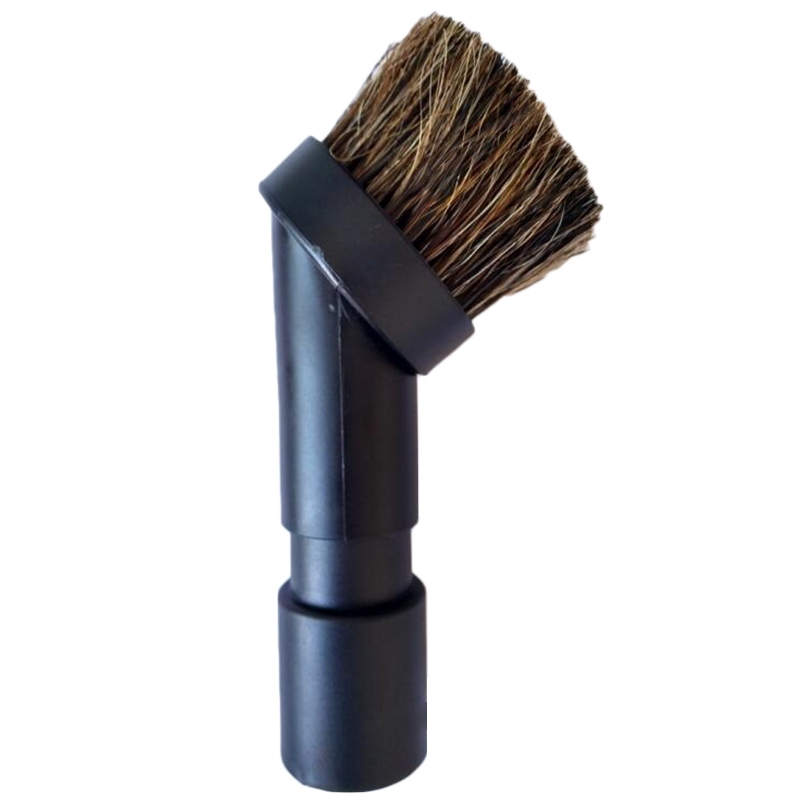 Bristle Horse Hair Round Brush Head Vacuum Cleaner With Adapter 32mm-35mm Black