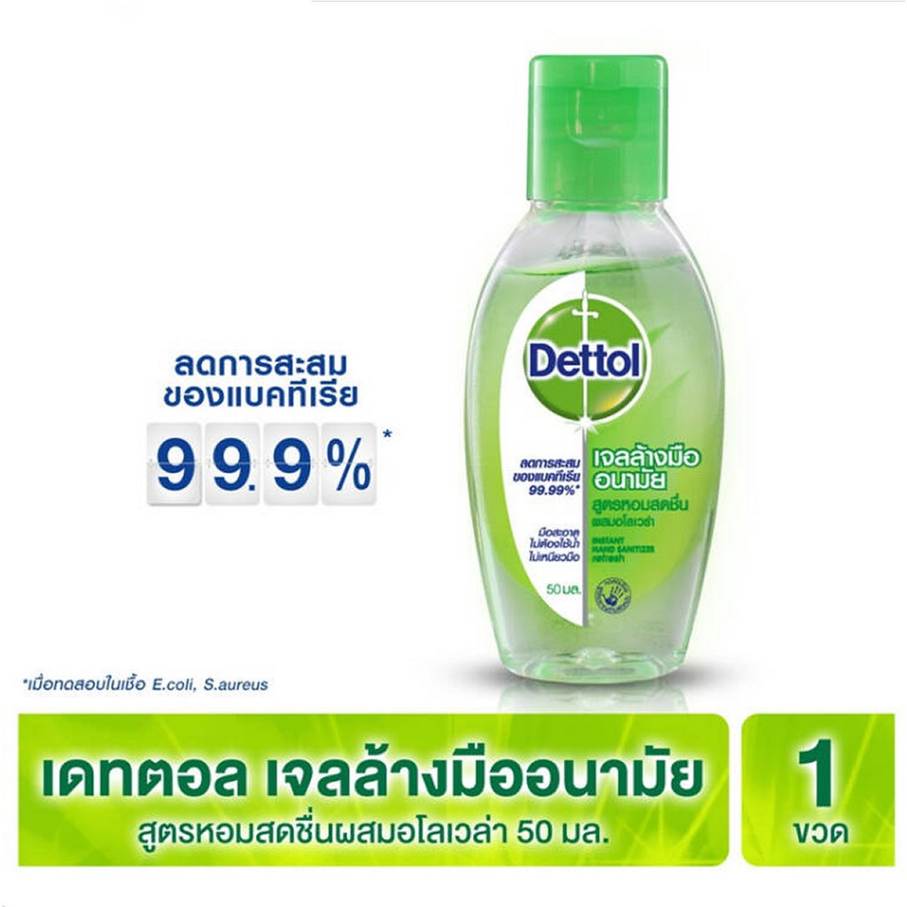 เดทตอล Dettol เจลล้างมือแอลกอฮอล์ ขนาด 50ml.