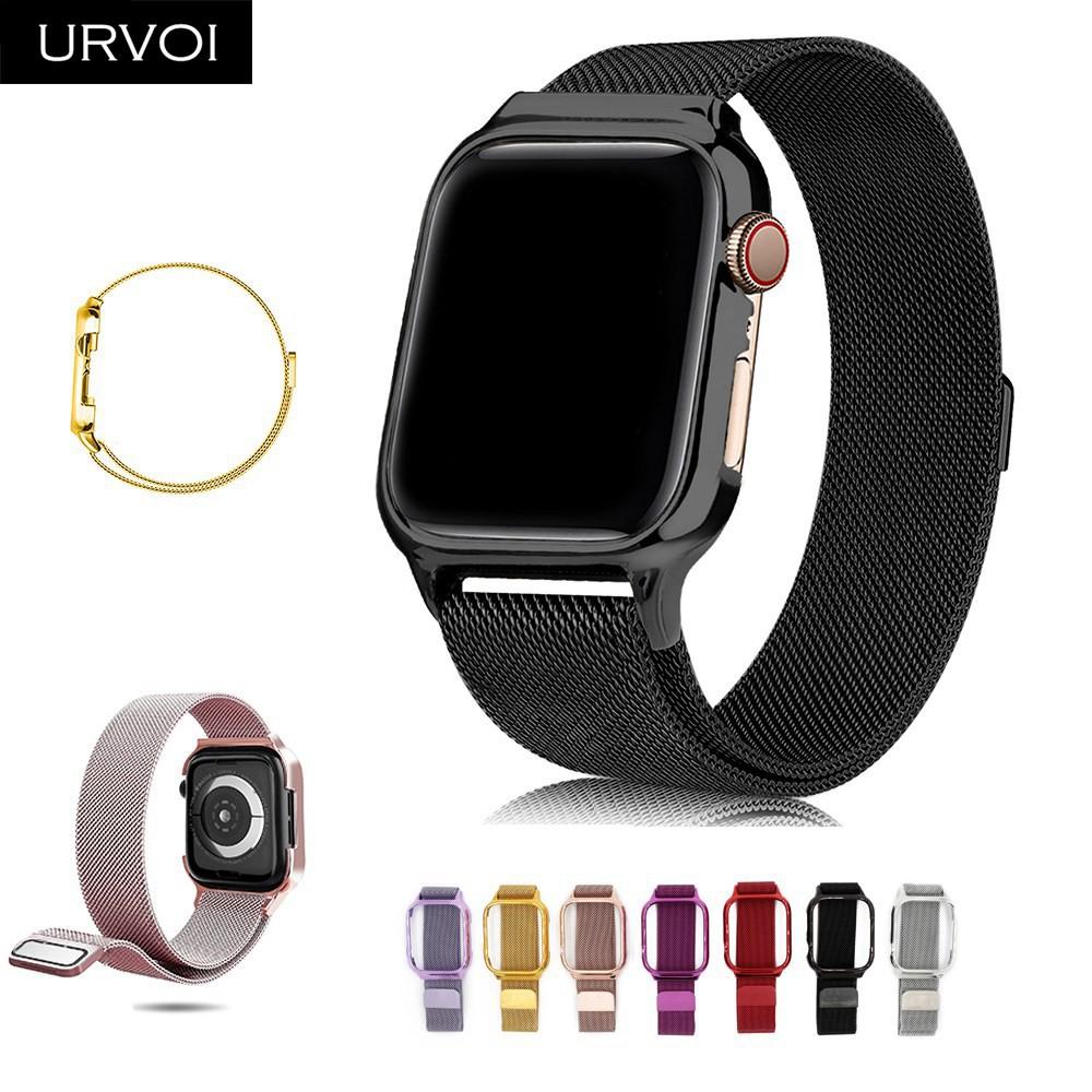 Urvoi Milanese ห่วงแม่เหล็กสําหรับ Apple Watch Band Series 4 5 40 มม . 44 มม .