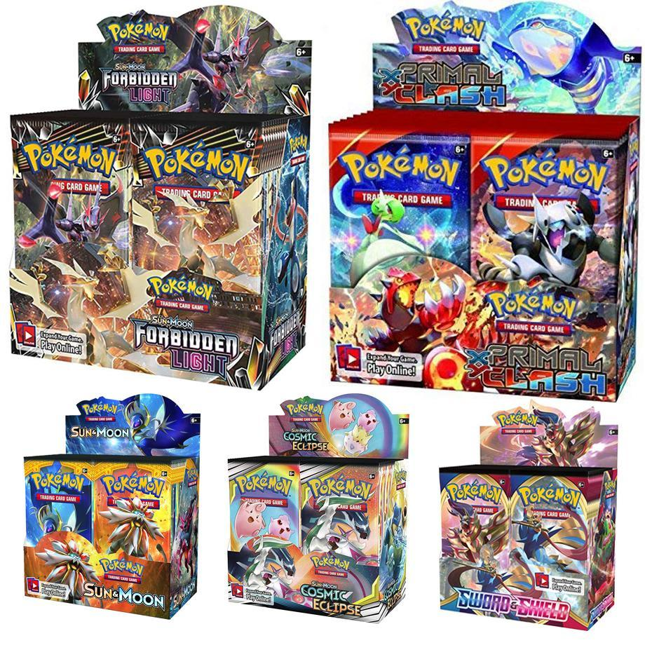 324 Cards Pokemon TCG: Sun & Moon Celestial Storm 36-Pack Booster Box Trading Game Kids Collection Toys